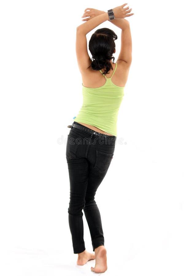 Healthy slim body stock photo