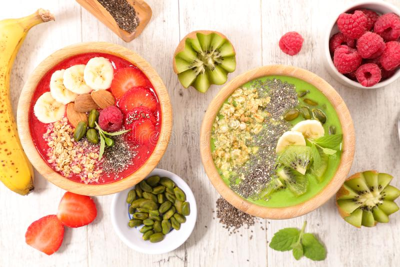 Healthy smoothie bowl stock photo