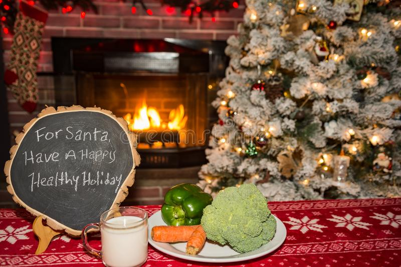 A healthy snack for Santa stock image