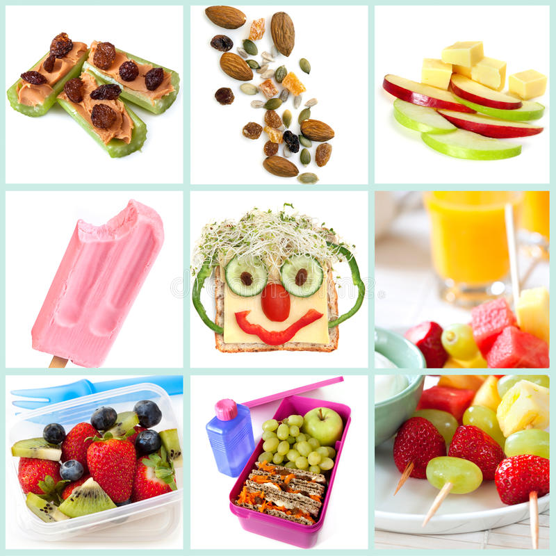 Healthy Snacking for Kids Collection royalty free stock images