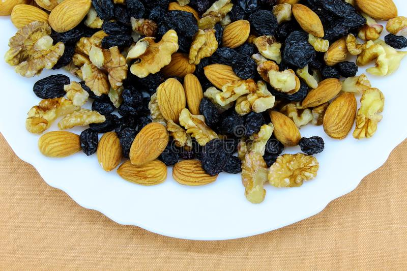 Healthy and tasty products on a plate stock images