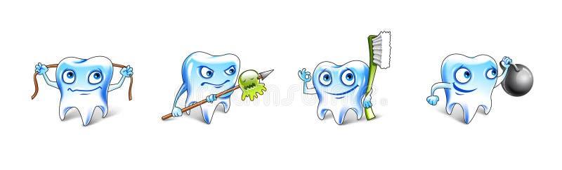 Healthy Teeth Illustration royalty free stock photo