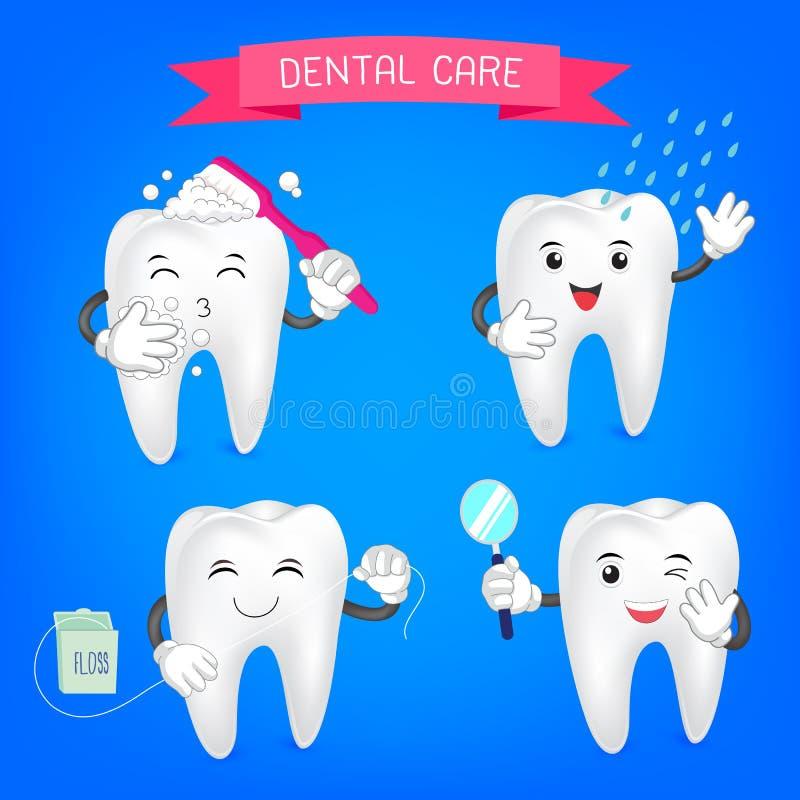 Healthy teeth set. vector illustration