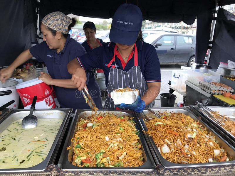 Healthy Thai Street Food Stall royalty-vrije stock foto