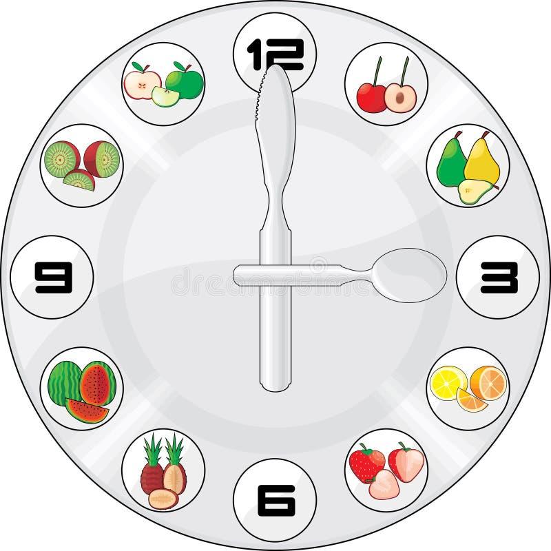 Download Healthy time stock vector. Image of apple, orange, spoon - 13055328