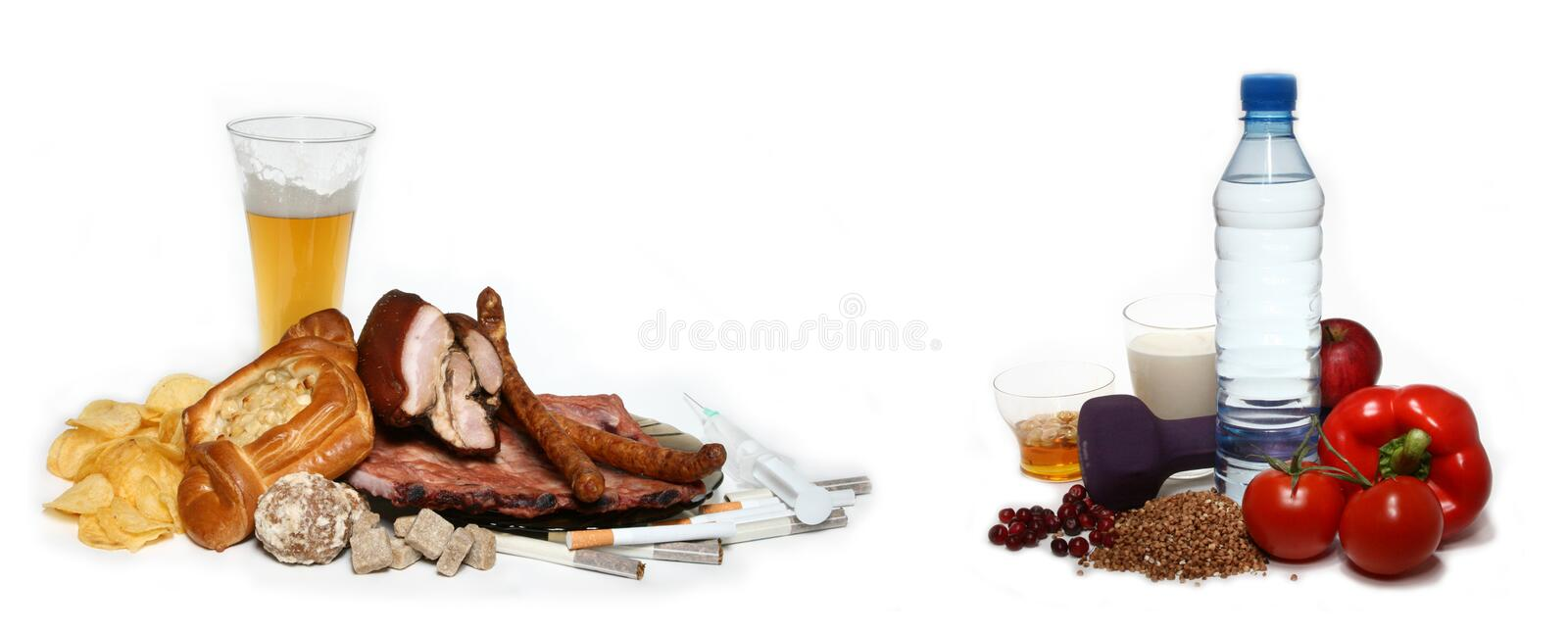 Download Healthy and unhealthy stock image. Image of concept, eating - 11787579