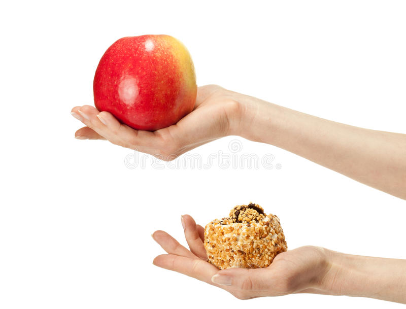 Healthy or unhealthy food? royalty free stock photo