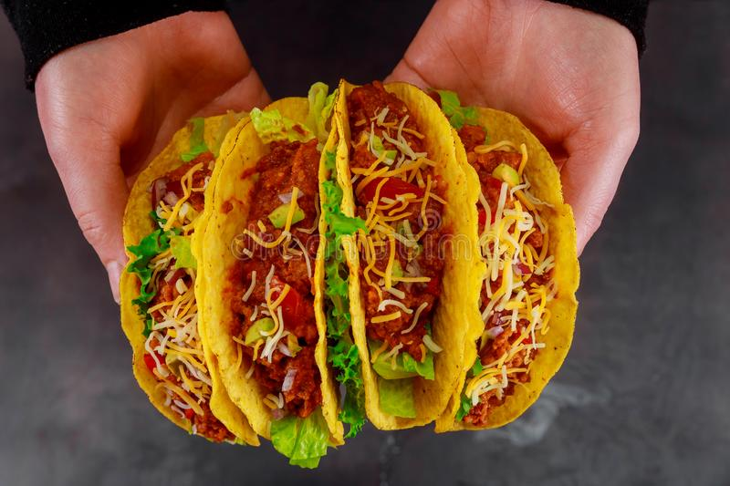 healthy vegan jackfruit tacos stock images