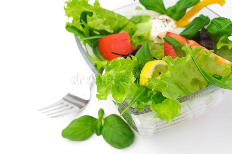 Download Healthy Vegetarian Salad Over White Stock Photo - Image: 25348890
