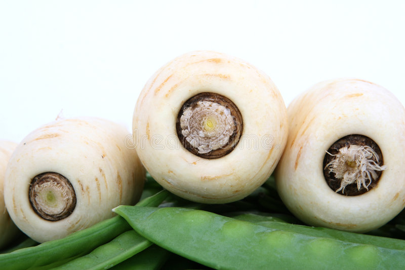 Download Healthy White Parsnip With Green Beans Isolated Stock Photo - Image: 1486946