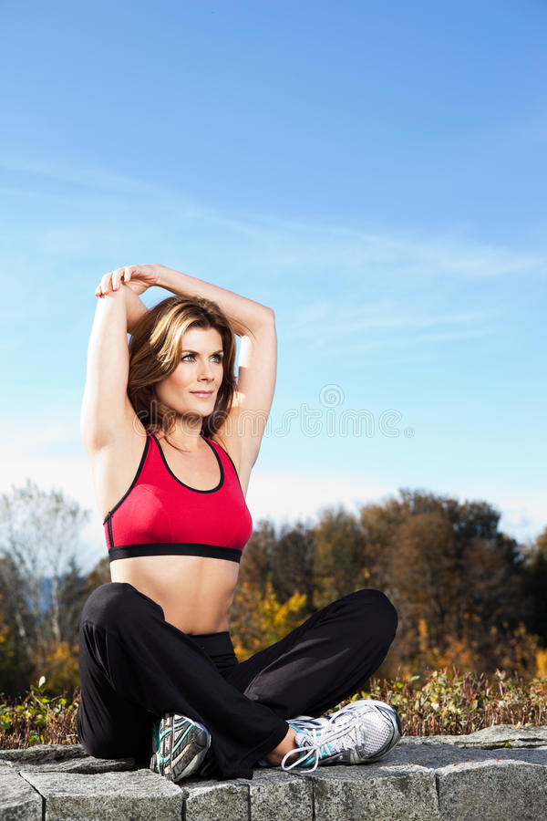 Healthy woman royalty free stock images