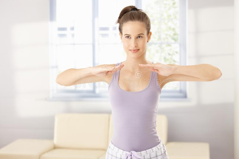 Download Healthy Woman In Morning Exercise Stock Photo - Image: 18760274