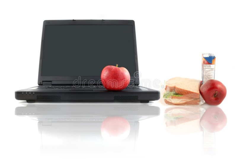 Download Healthy work lunch stock image. Image of computer, lifestyle - 8361101