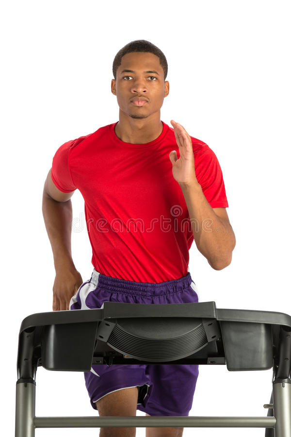 Download Healthy Young African American Running In Treadmill Stock Photo - Image: 33708810
