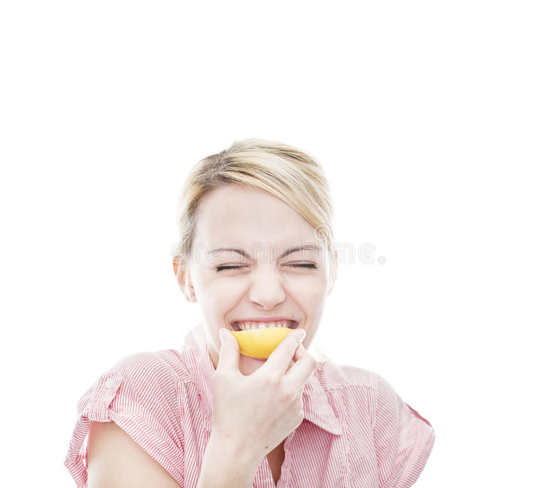 Download Healthy Young Blonde Attractive Woman With Lemon Stock Photo - Image: 22192626