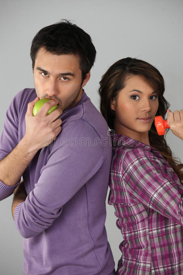 Healthy Young Couple Royalty Free Stock Photos