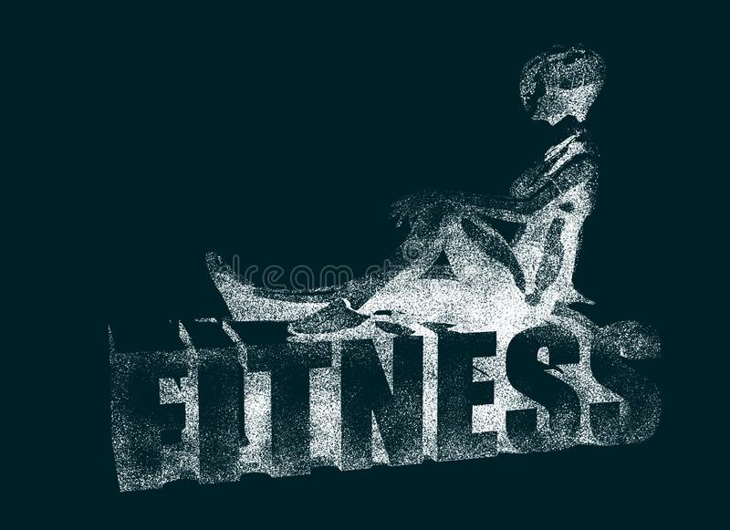 Healthy young fitness woman stock illustration