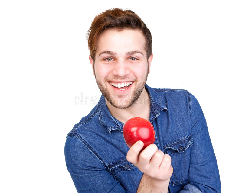 Healthy young man smiling stock photo