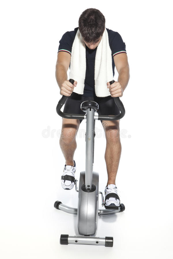 Download Healthy Young Man Workout On Treadmill Stock Image - Image: 11014349