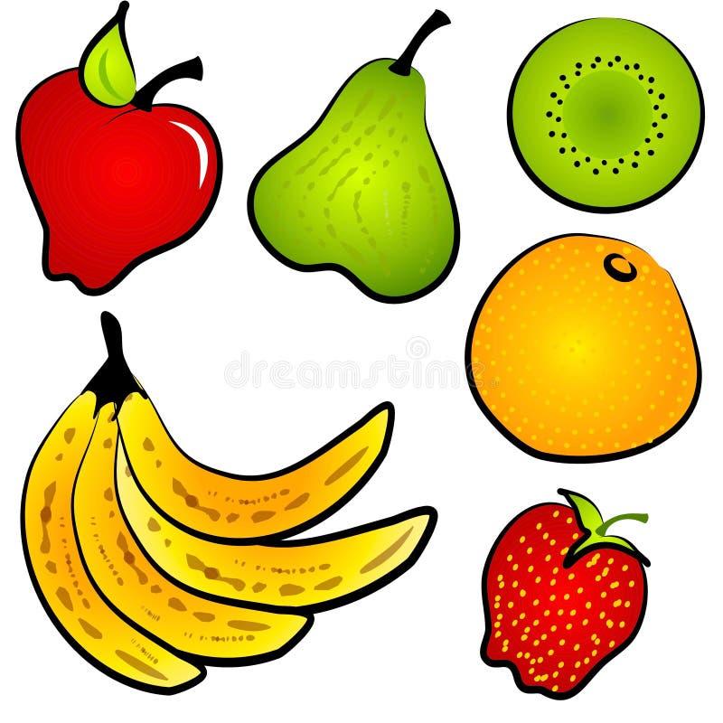 Healty Nahrungsmittelfrucht-Klipp-Kunst lizenzfreie abbildung