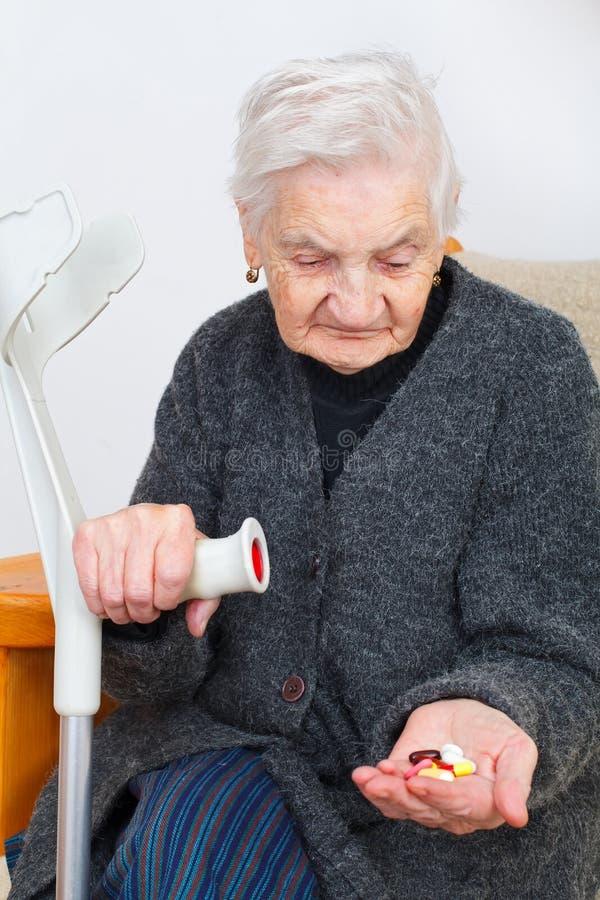 Healty pensionärdam royaltyfri foto