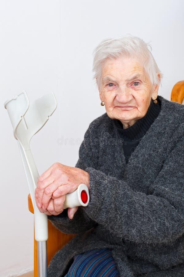 Healty pensionärdam royaltyfri fotografi