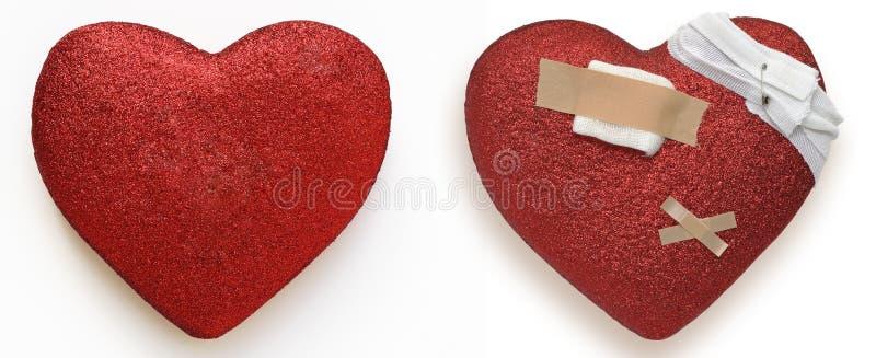 Healty serce i choroby serce obraz royalty free