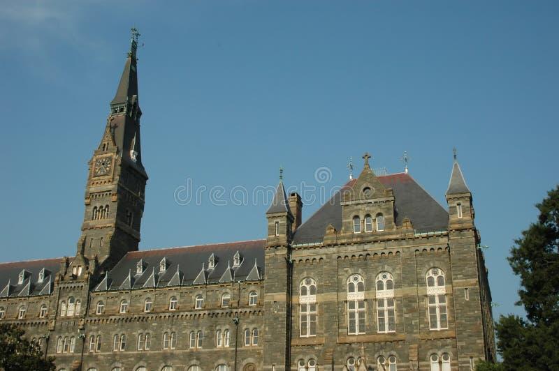 Healy Hall et la tour d'horloge images stock