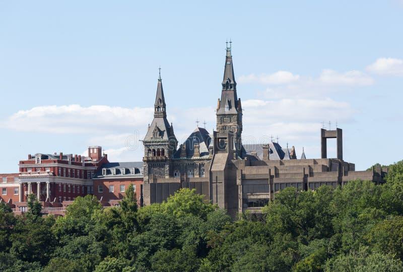 Healy Hall Georgetown University royaltyfria bilder