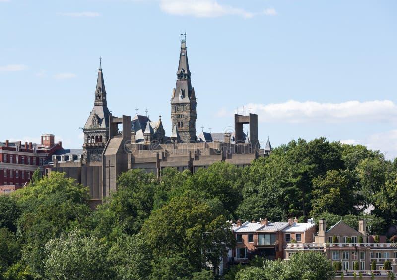Healy Hall Georgetown University royaltyfria foton