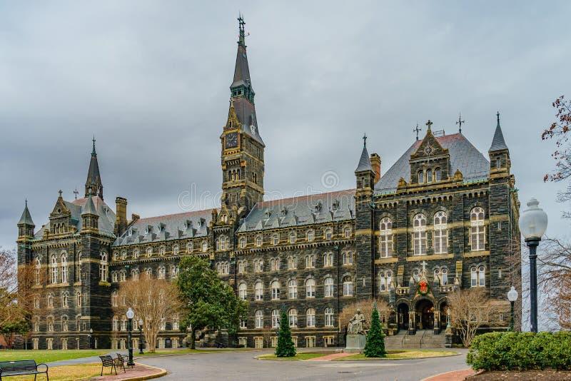 Healy Hall przy uniwersytet georgetown, w Waszyngton, DC obraz royalty free