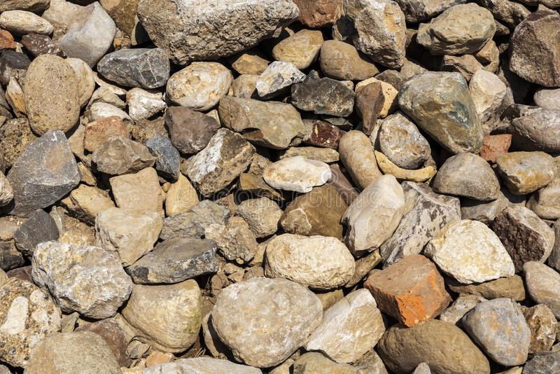 Heap of ancient building stones, pile of ancient building stones. Heap of ancient dismantled building stones, pile of ancient building stones royalty free stock photography