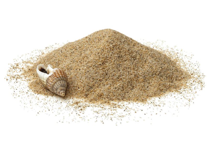 Heap of beach sand royalty free stock image