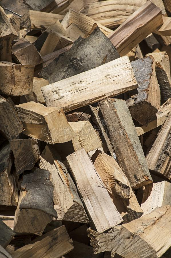 A heap of beech firewood royalty free stock images