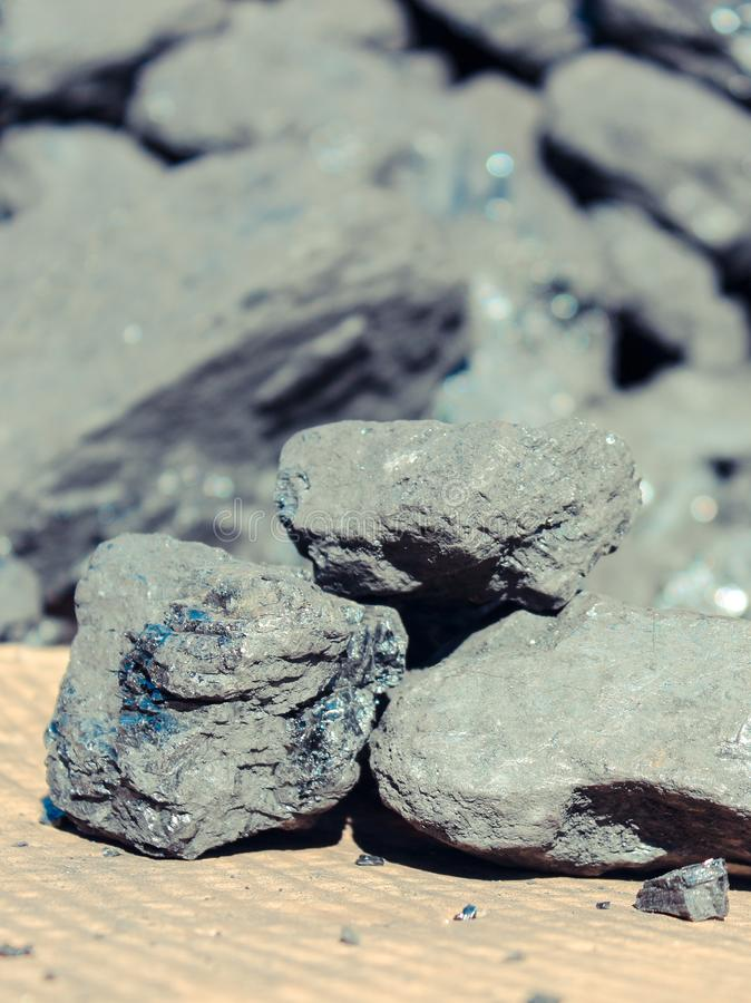 Heap of coal lumps, fuel and power royalty free stock photo