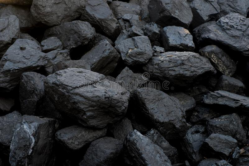 Heap of black mine coal royalty free stock photography