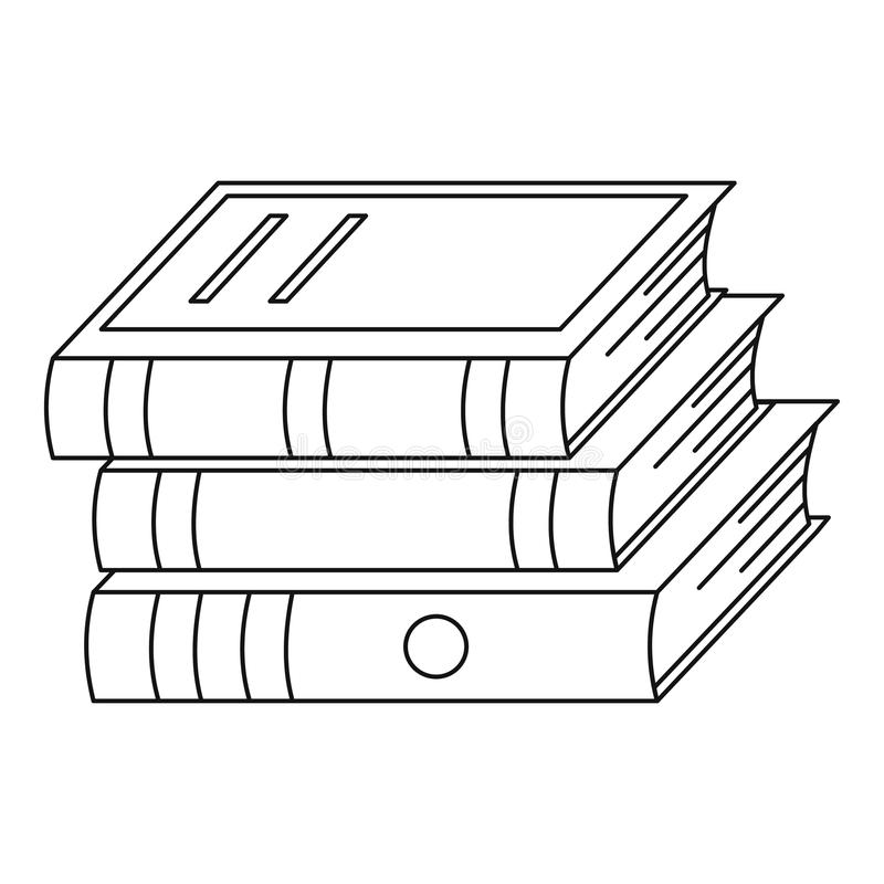 Heap of book icon, outline style. Heap of book icon. Outline illustration of heap of book icon for web royalty free illustration