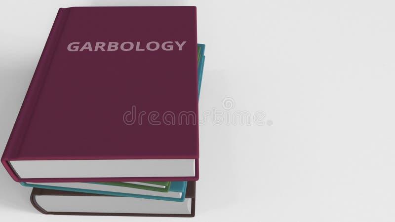 Heap of books on GARBOLOGY, 3D rendering royalty free illustration