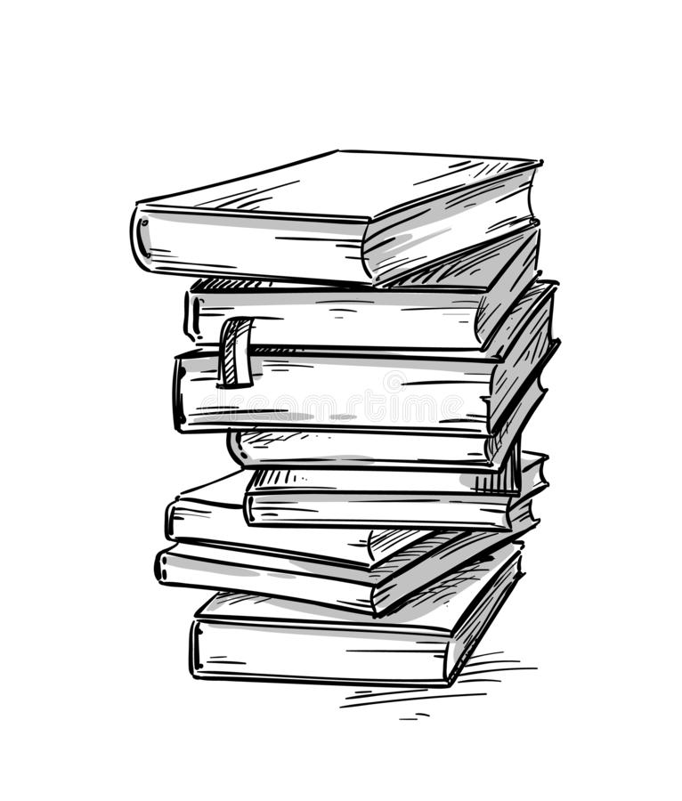 Heap of books, vector drawing vector illustration