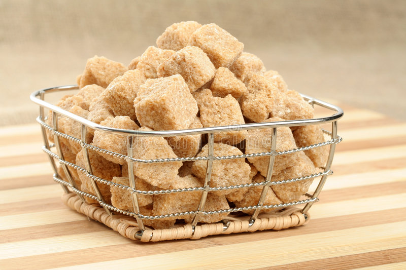 Heap of brown sugar royalty free stock images
