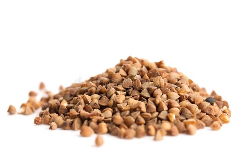 Heap of buckwheat stock images