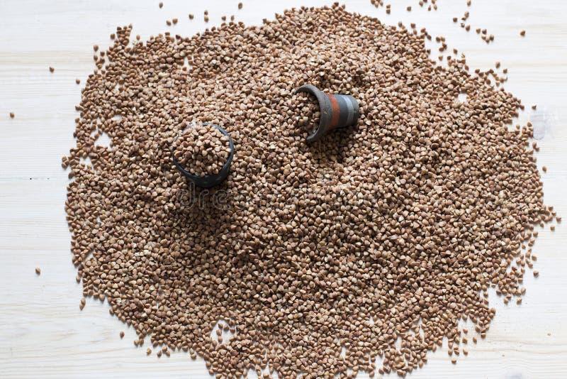 Heap of buckwheat royalty free stock photography