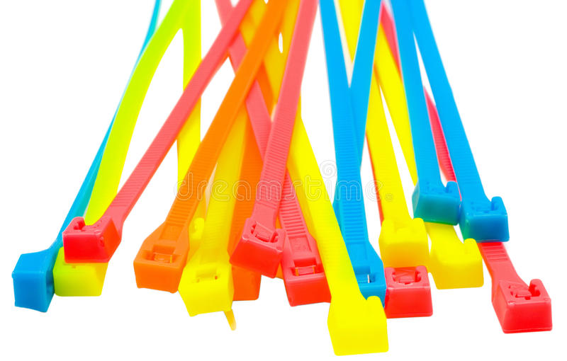 Heap Of Cable Ties Stock Photos