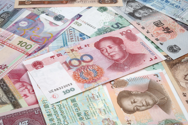 Download Heap chinese & HK bills stock photo. Image of currency - 8295014