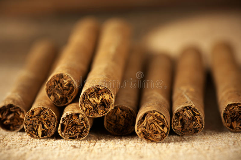 Heap of cigars royalty free stock photography