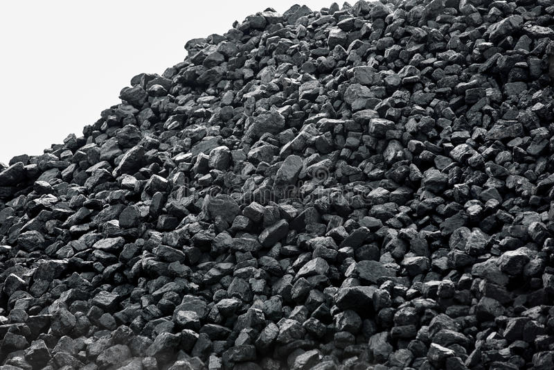 Heap of coal. royalty free stock photography