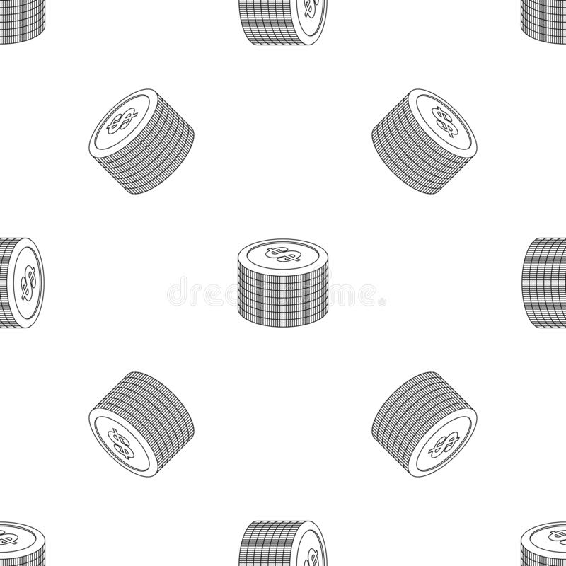 Heap of coin pattern seamless vector. Repeat geometric for any web design vector illustration
