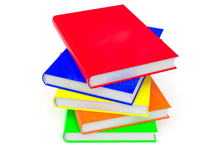 Download Heap of colored books stock illustration. Image of catalog - 20295225