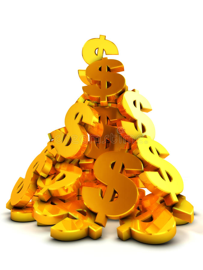 Download Heap of dollars stock illustration. Image of shiny, rendering - 13928902