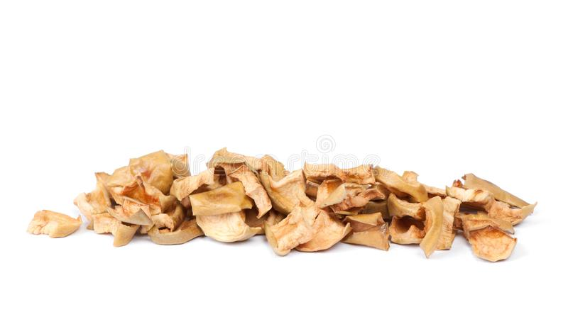 Heap of dried apple slices royalty free stock photos